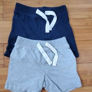 Bundle of Old Navy boys shorts 12-18m blue gray